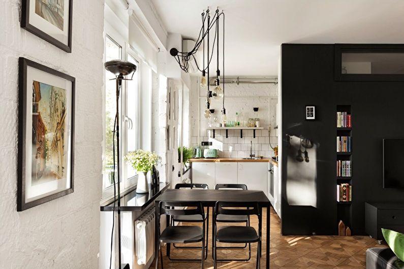 Conception de cuisine à Khrouchtchev - style scandinave