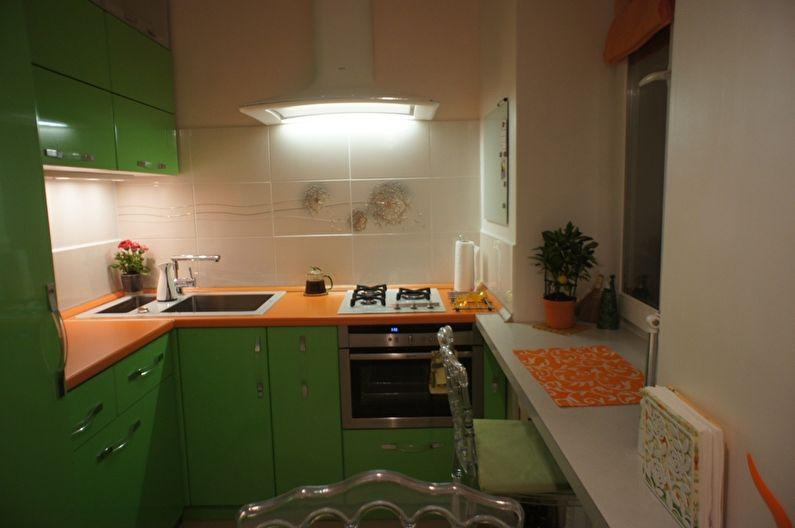 Cuisine verte à Khrouchtchev - design d'intérieur