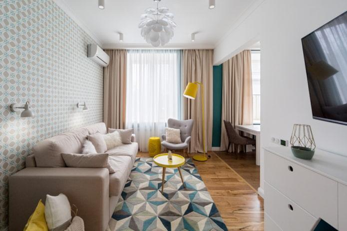 l'aménagement de la salle de l'appartement Khrouchtchev