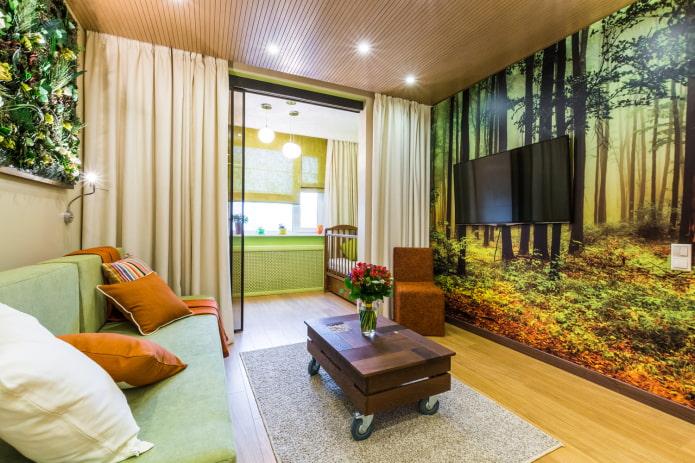 espace enfants dans le salon de l'appartement Khrouchtchev