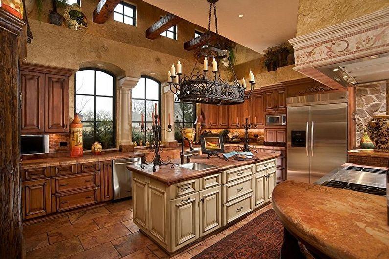 Lustre de cuisine de style campagnard