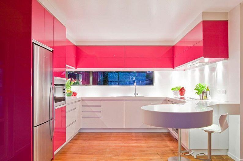 Cuisine rose moderne - Design d'intérieur