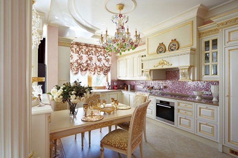 Cuisine rococo rose - Design d'intérieur