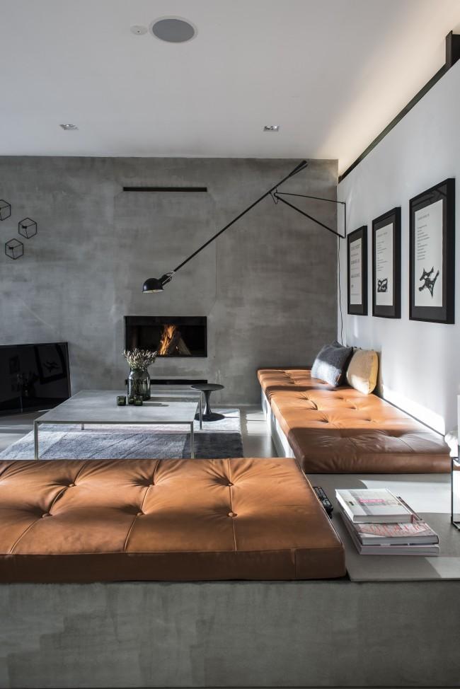 Intérieur de la salle de style loft élégant