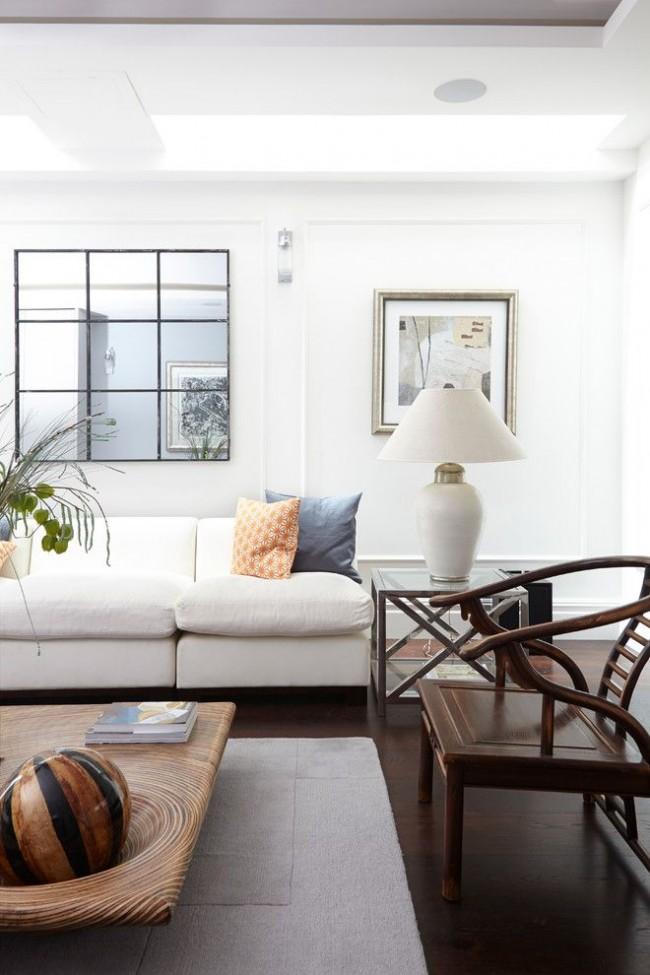 Salon avec un bel intérieur