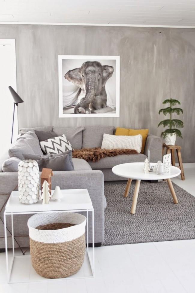 Chambre confortable dans un style campagnard