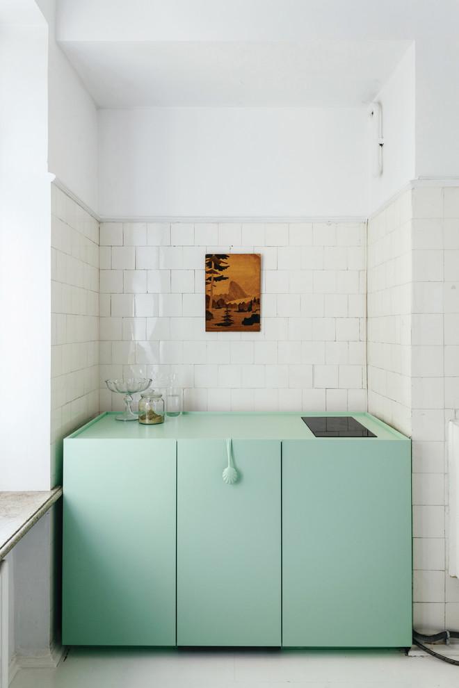 niche de cuisine à la menthe
