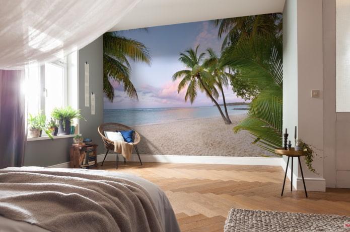 papier peint photo à l'intérieur de la chambre