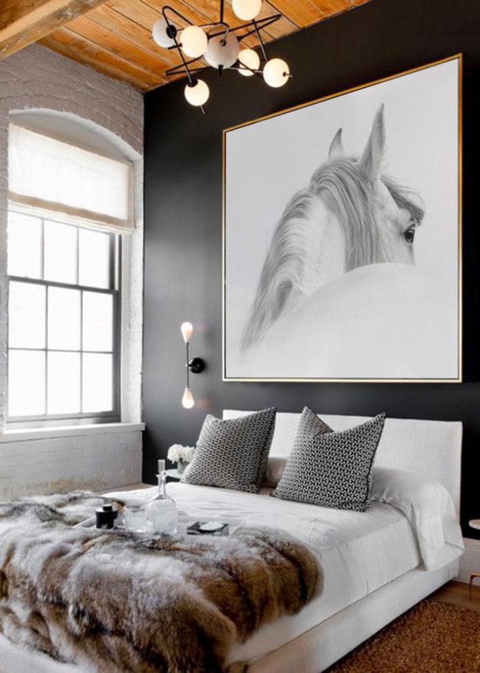 l'image sur le mur à l'intérieur de la chambre