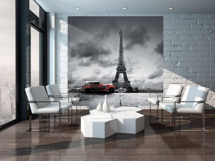 peinture représentant Paris à l'intérieur