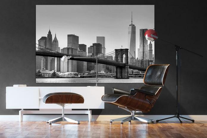 Peinture représentant New York à l'intérieur