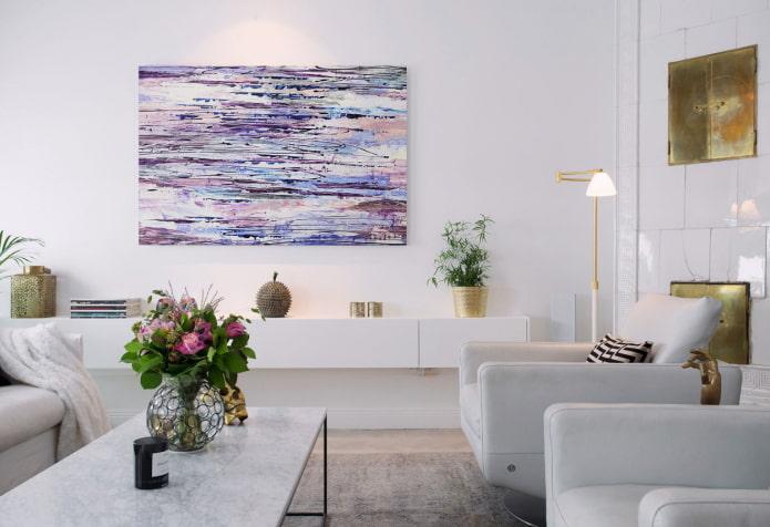 peinture avec abstraction