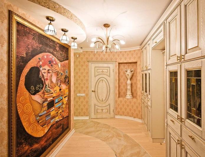 reproduction d'une peinture sur le mur à l'intérieur