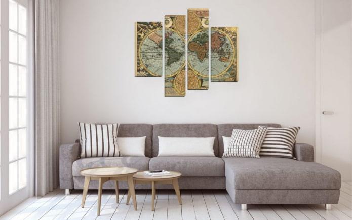 photo avec carte du monde