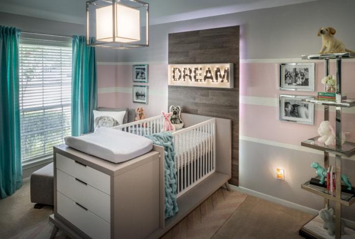 modèle pour nouveau-nés avec mobilier intégré à l'intérieur