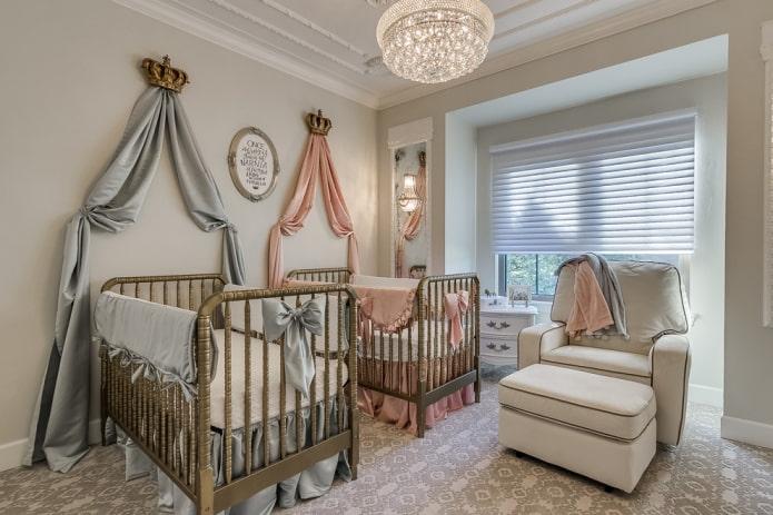 lits pour jumeaux à l'intérieur