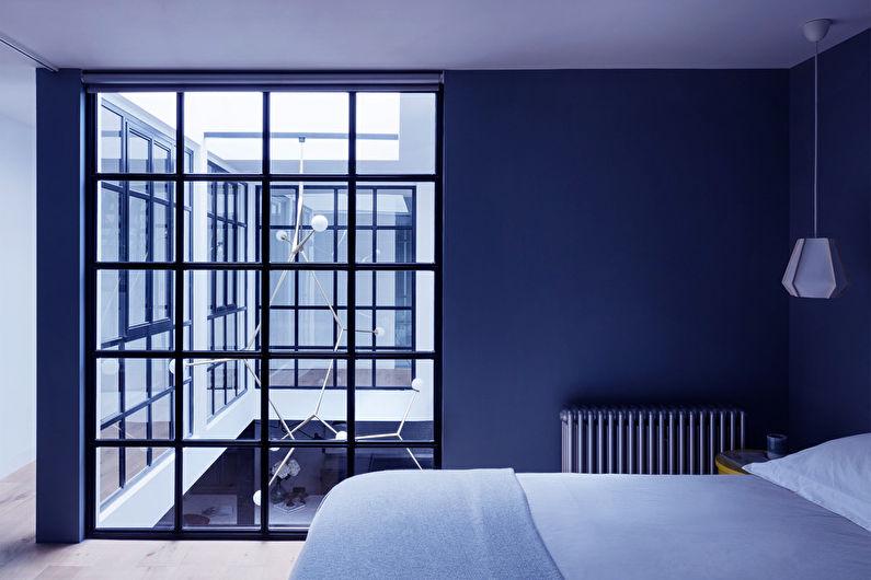 Chambre Loft Bleu - Design Intérieur