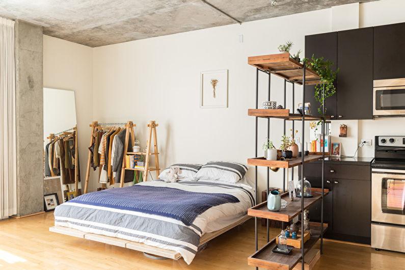 Conception de chambre à coucher de style loft - Caractéristiques