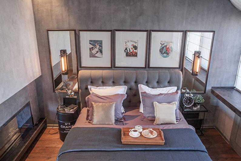Conception de chambre à coucher de style loft - Finition du sol