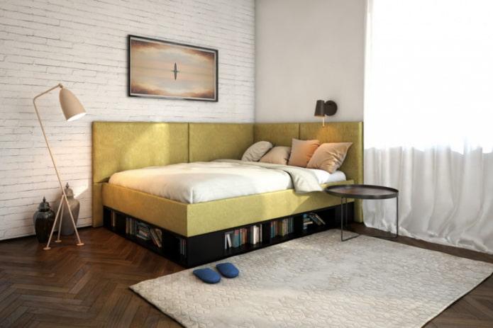 lit à deux dossiers à l'intérieur