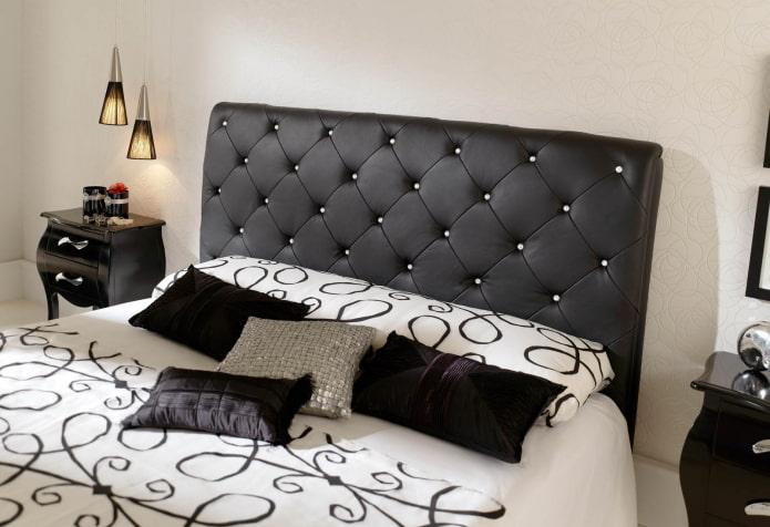 tête de lit avec strass à l'intérieur