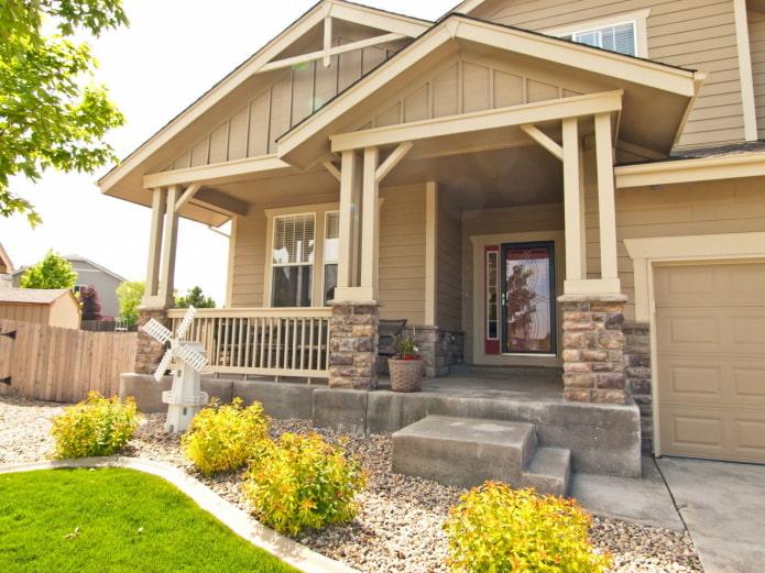 maison avec porche en béton