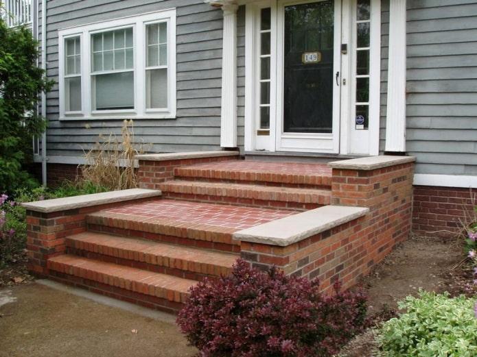 maison avec porche en brique