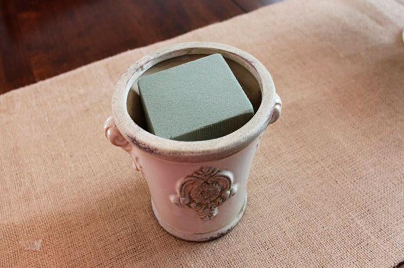 Topiaire en papier ondulé bricolage
