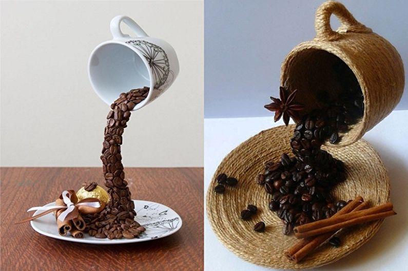 Topiaire de grains de café bricolage