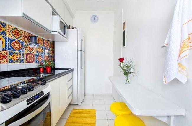 Une augmentation de la taille de la cuisine est possible avec une diminution de la salle de bain