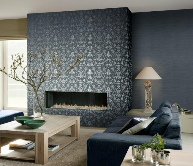 Même couleur de fond pour correspondre aux meubles, plus un motif d'accent