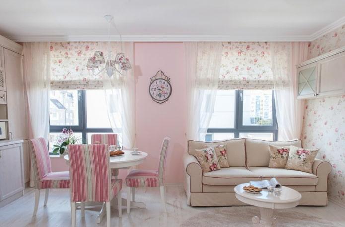 Papier peint de style provençal