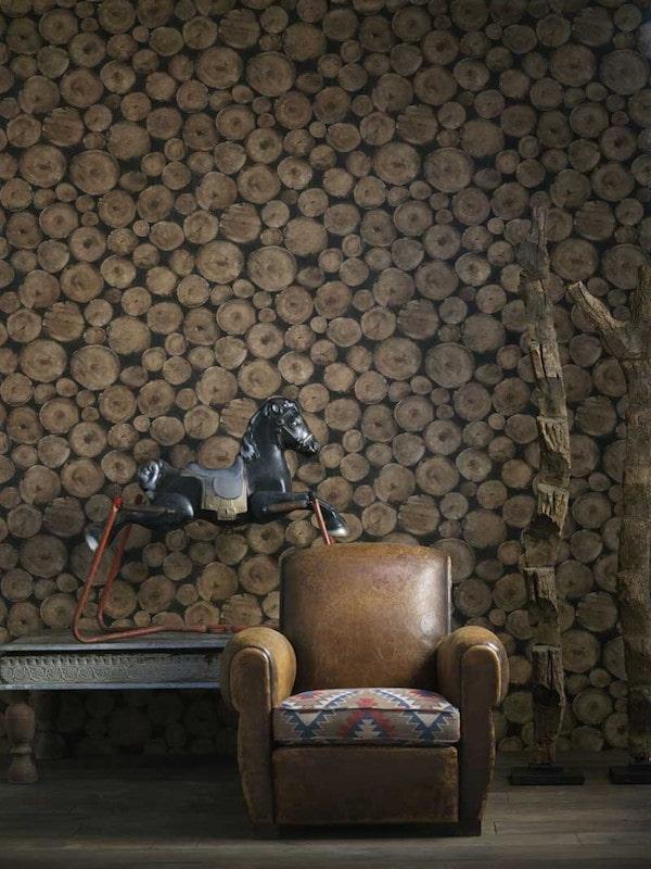 imitation bois sur les murs