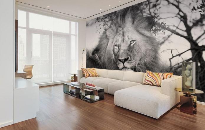 photomural avec l'image d'un lion