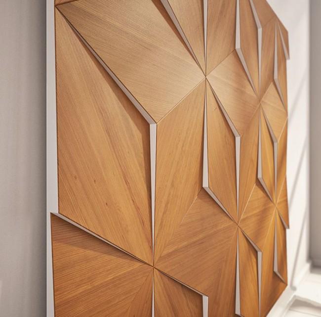 Les panneaux muraux en bois sont très impressionnants