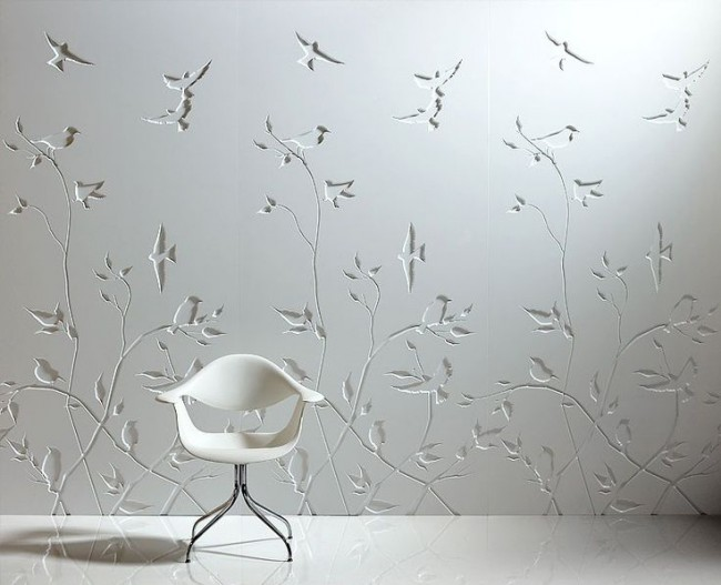 Panneaux muraux chics en blanc