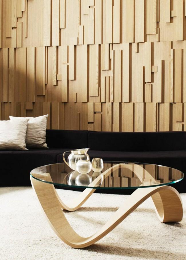 Les panneaux muraux en bois donneront à votre intérieur un aspect riche