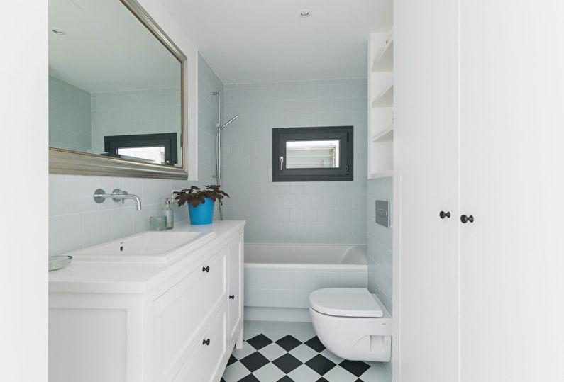 Conception du sol dans une petite salle de bain