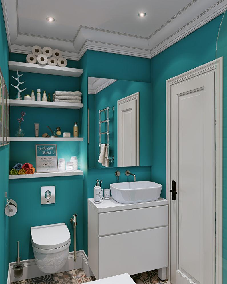 L'emplacement du lavabo et des toilettes dans une petite salle de bain