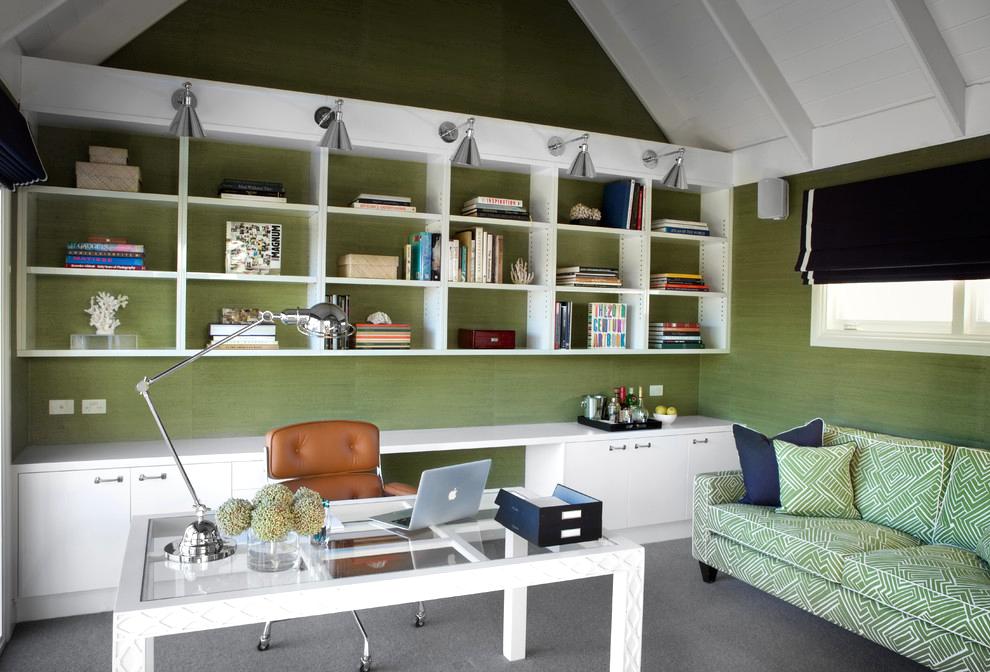 Vous pouvez toujours changer facilement la couleur du papier peint précédent en créant un nouvel arrière-plan pour votre intérieur.