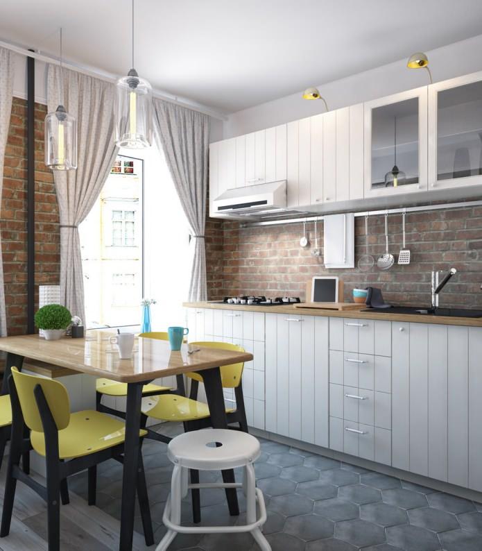 Conception de cuisine dans un appartement d'une pièce