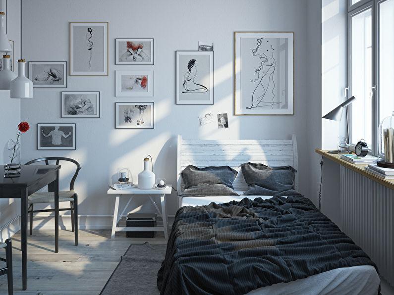 Conception d'une petite chambre en blanc - photo