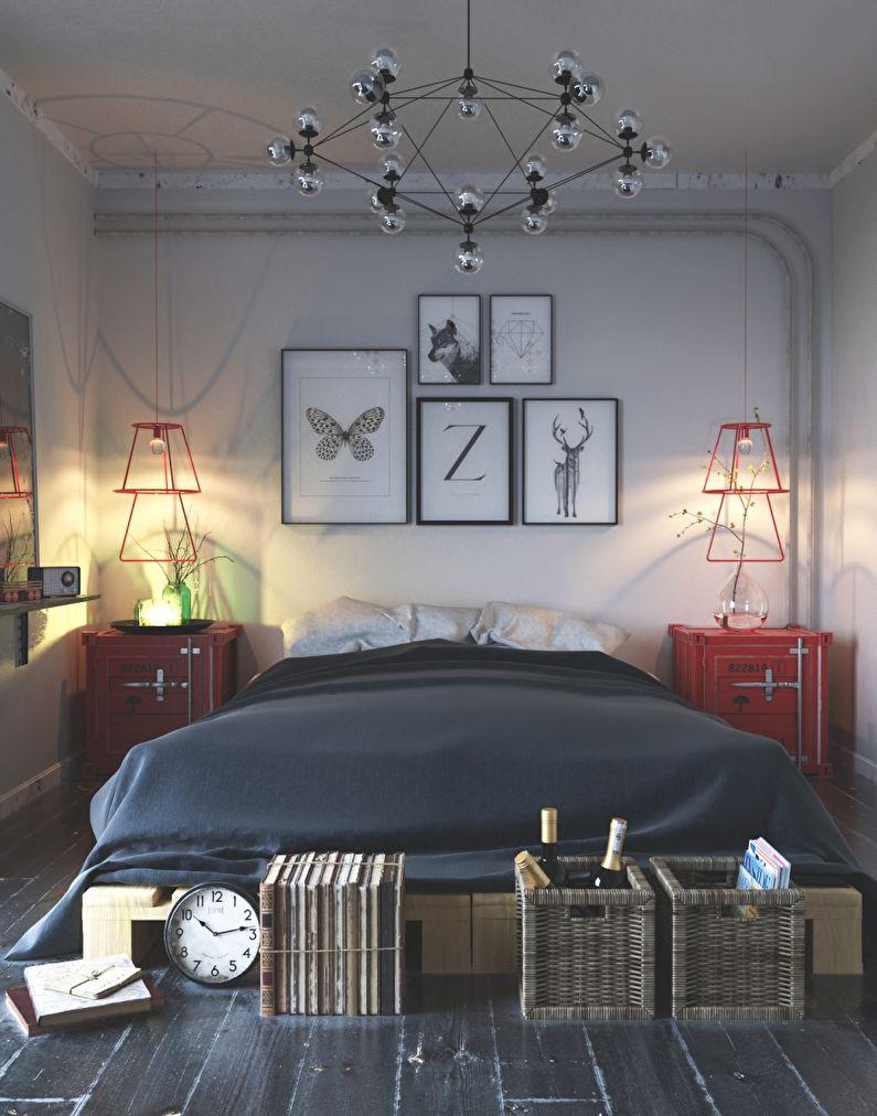 Conception de petite chambre de style scandinave - photo