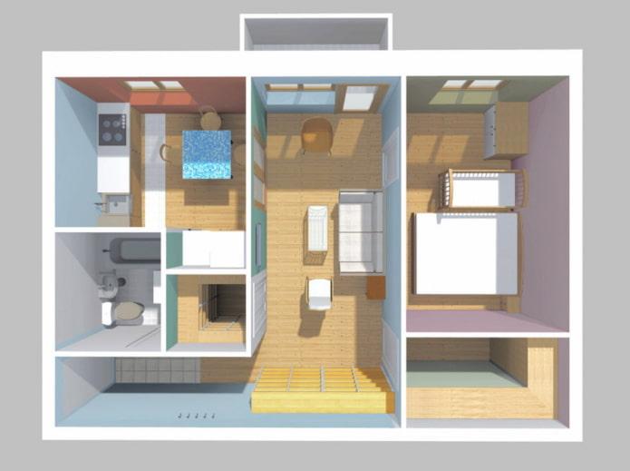 Appartement avec salon de plain-pied