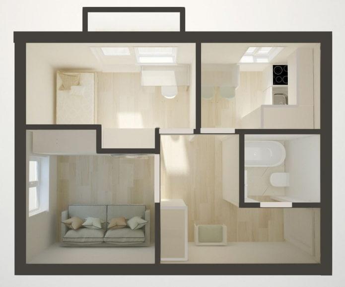 Réaménagement dans un appartement d'angle