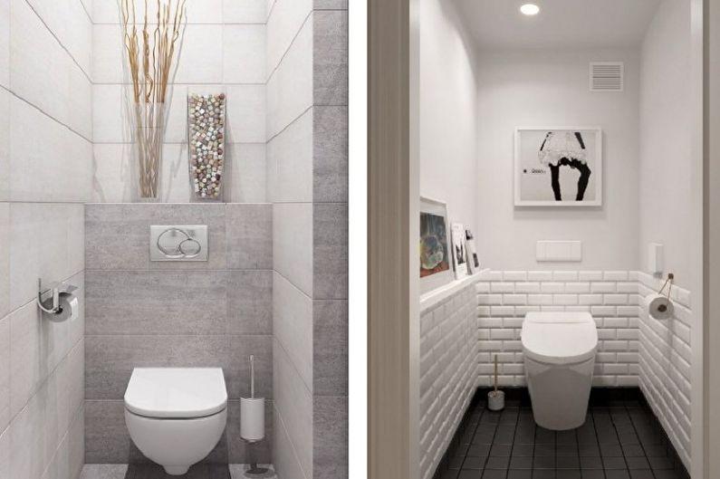 Petite toilette dans le style du minimalisme - Design d'intérieur