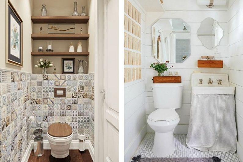 Petite toilette de style provençal - Design d'intérieur