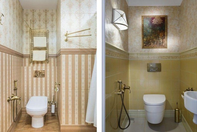 Petite toilette de style classique - Design d'intérieur