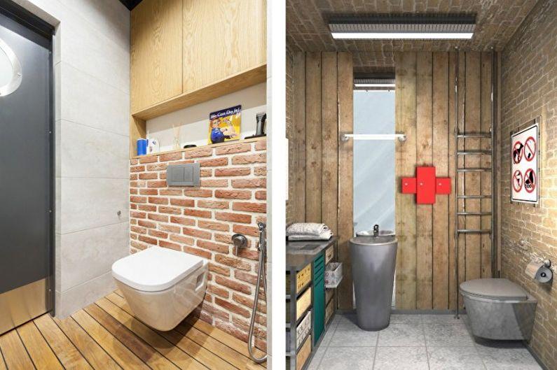 Petite toilette de style loft - Design d'intérieur