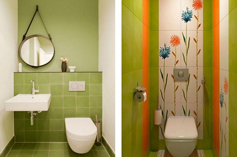 Petite toilette verte - Design d'intérieur